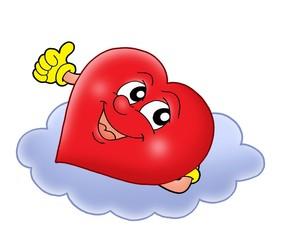 Heart on cloud