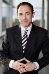 Portrait of a businessman in a smart suit
