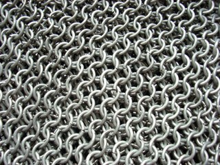 texture of antique chain mail