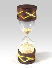 sand clock with gold lines