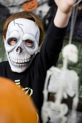 Little boy at a Halloween party
