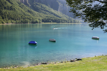 Swiss lake Klontal