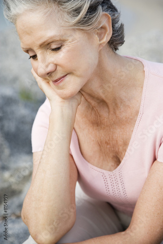 Portrait of a senior woman at the beach