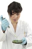 Toxicology investigation female  researcher poster