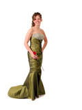 Teenager in Prom or Graduation Dress poster