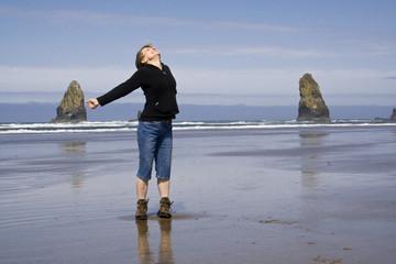 Woman on te Beach
