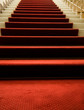 Stairs covered with red carpet - 8156564