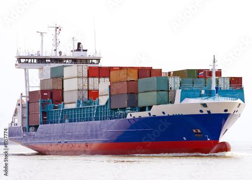 Leinwanddruck Bild container ship