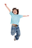 Fototapety Child  jumping