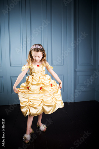 Young girl in a party dress