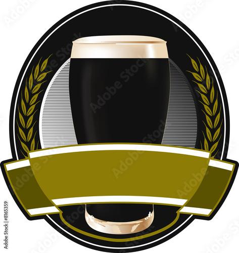 black beer label