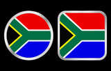 South Africa flag icon poster