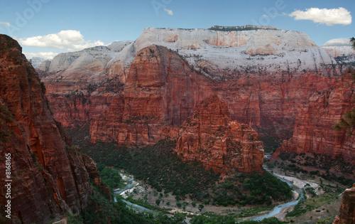 Zion Canyon and Colorado river