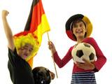 kind jubeln für fussball, deutsche mannschaft fan poster