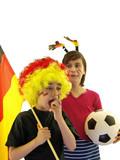 kinder jubeln für fussball, deutsche mannschaft fans poster