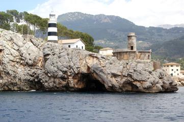 Faro en el Puerto de Soller-Soller-Mallorca-Baleares-Spain