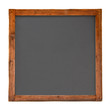 Old square wooden blackboard cutout