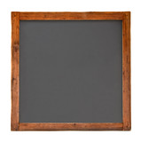 Old square wooden blackboard cutout poster