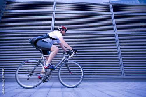 Cyclist, side view