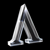 Lambda symbol in glass (3d)