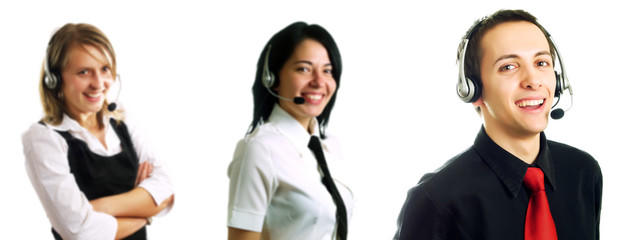 Group of call center operators
