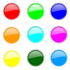 Set Of Round Website Buttons