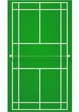 Terrain de badminton sur surface dure (détouré) poster
