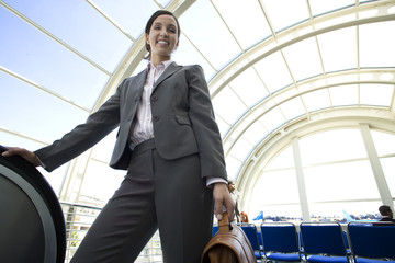 Businesswoman in airport