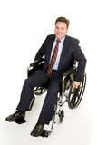 Businessman in Wheelchair poster