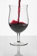 Rotwein Weinglas