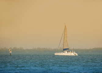 Sailboat in twilight