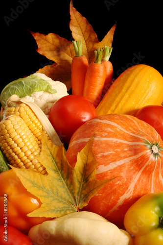 Autumnal vegetables