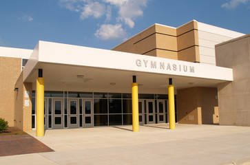 gymnasium entrance for a school