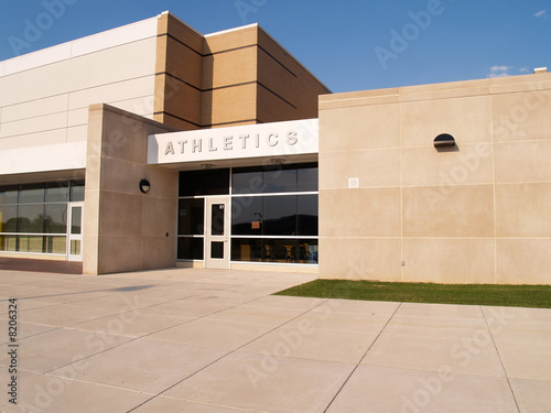 athletics entrance for a school