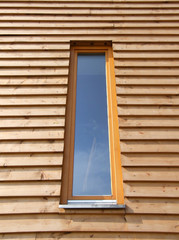 window modern wooden house