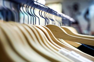 Hangers in a shop