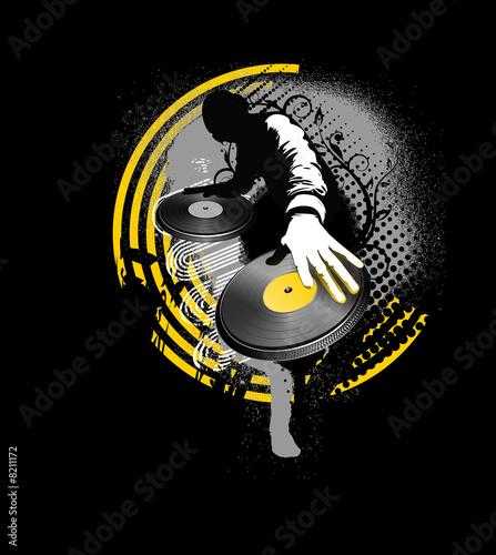 dj mix - yellow and black