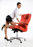 Brunette In An Office Armchair poster
