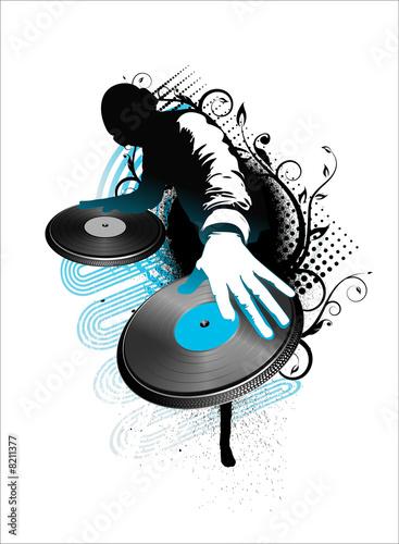 Leinwanddruck Bild dj mix
