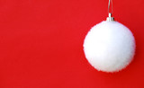 white fluffy bauble poster