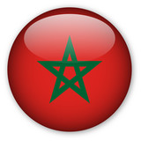Moroccan flag button poster