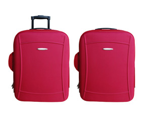 Two Red Carry-on Luggages