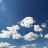 Cumulus clouds. poster