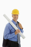 Construction site supervisor. poster