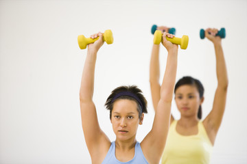 Women doing workout