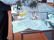 festtagsbüffet,champagnerflaschen,bankett gastronomie