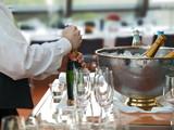 Fototapety festtagsbüffet,champagnerflaschen,bankett gastronomie