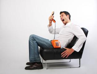 Schrei Anruf Telefonterror
