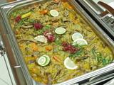 büffet,rindfleisch in grünem curry,chafing dish,gastronomie poster