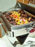 büffet,fritierte chicken wings,chafing dish, bankett gastronomie poster